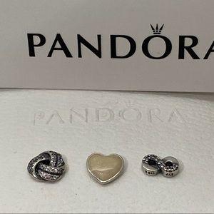 NEW Pandora Retired  Infinite Love Petite Charms